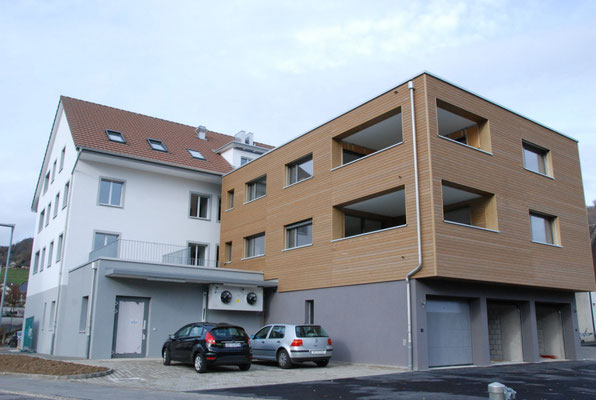 Weisstannenschalung horizontal MFH Kirchbachstrasse, Wittnau