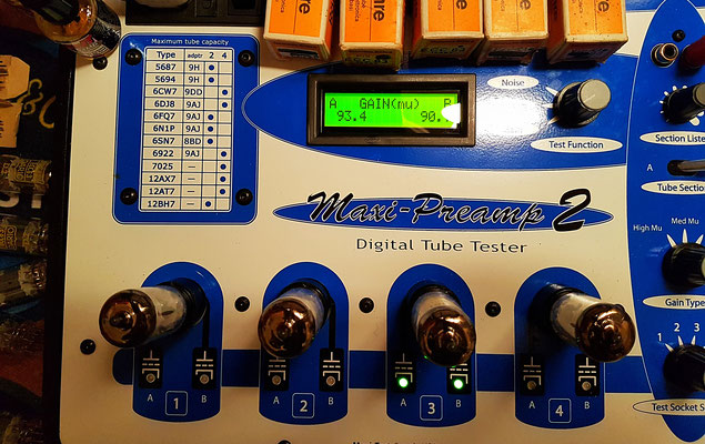 Lampemètres et tests - Tubes, Amplis à lampes Guitare et Audio