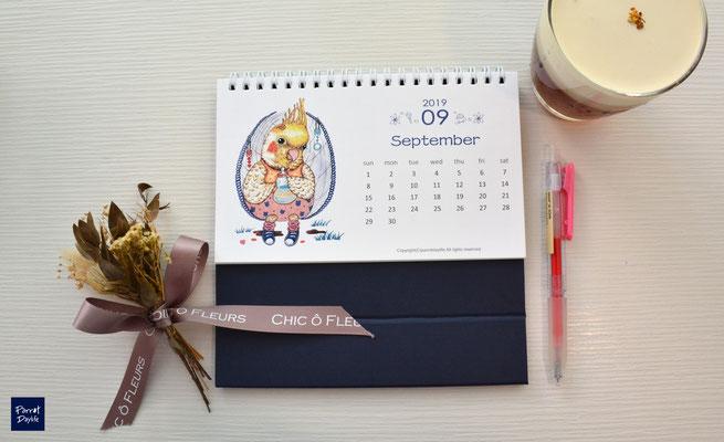 九月品種:玄鳳鸚鵡