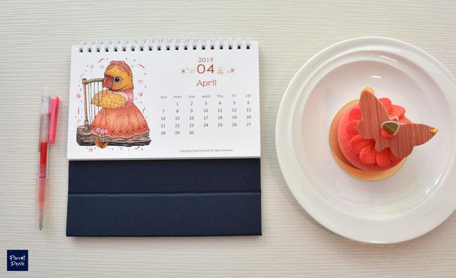 四月品種:黃月輪鸚鵡