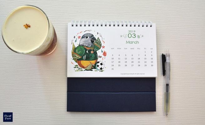 三月品種:塞內加爾鸚鵡
