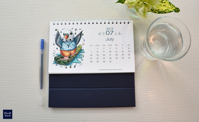 七月品種:藍虎皮鸚鵡