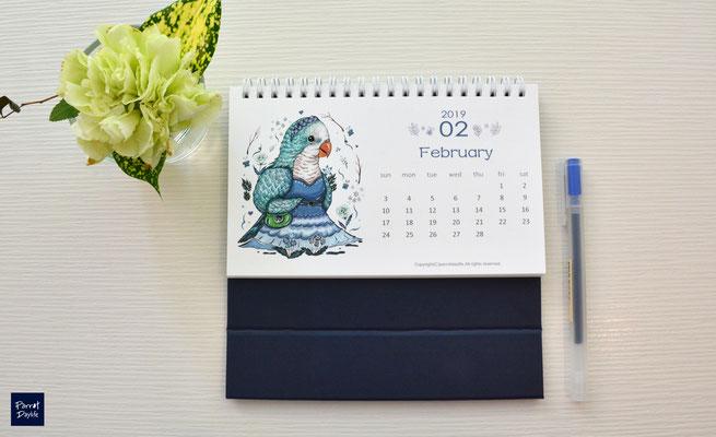 二月品種:藍和尚鸚鵡