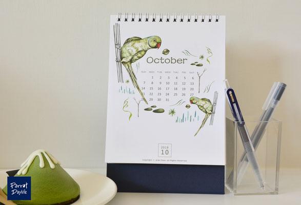 十月 品種:月輪鸚鵡