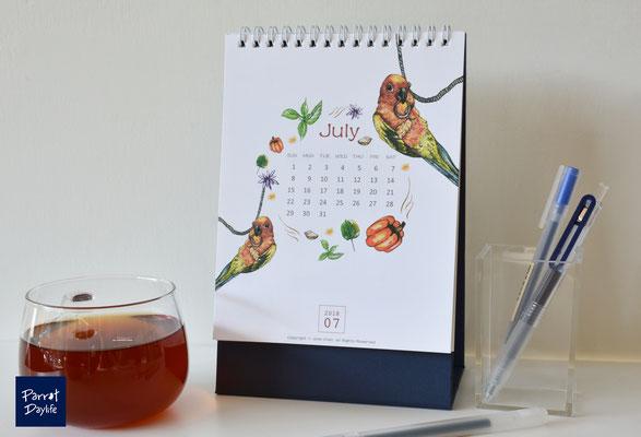 七月 品種:金太陽鸚鵡
