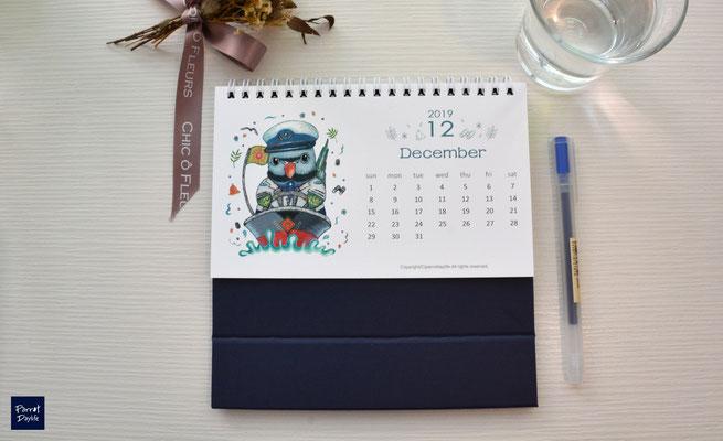 十二月品種:達摩鸚鵡