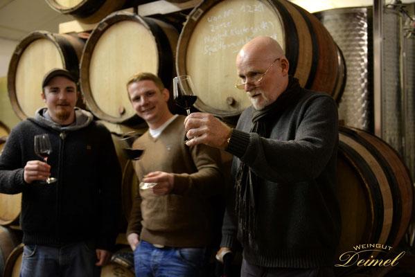 Die 3 Winzer der Familie - Andreas, Stephan und Manfred Deimel