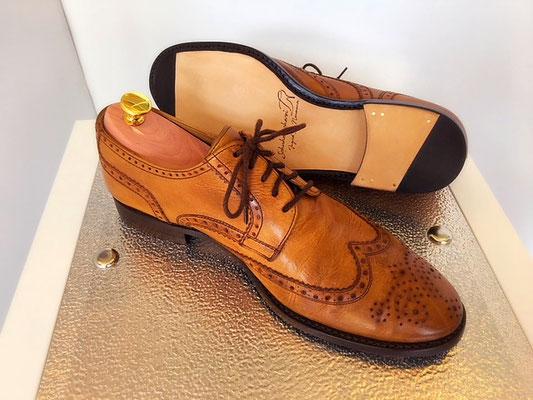 Aufgearbeiteter Herren-Schuh Budapester braun