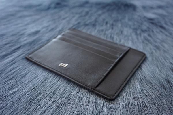 Kartenetui Leder schwarz Porsche Design