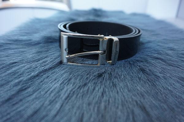 Herrengürtel Leder schwarz