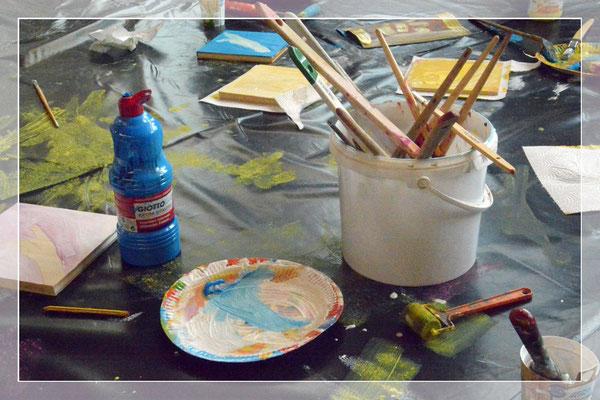 Raum für Kunst in der Lernwerkstatt