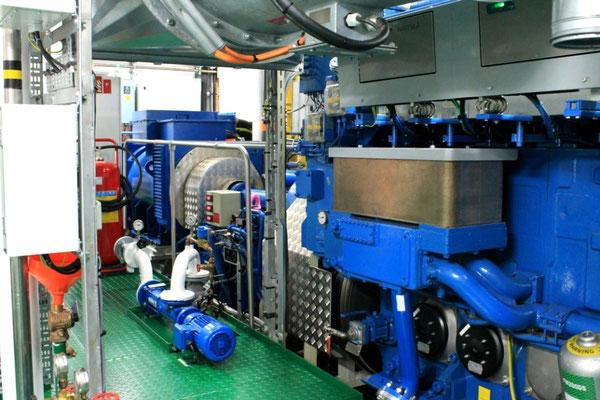 Dual-Fuel Hauptmotor mit Wellengenerator