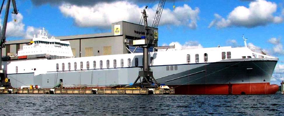 Abbildung 6: Schiff fertig zur Ablieferung (Quelle FSG)