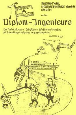 Werbung der Nordseewerke   1965 in der Ordenszeitung (Quelle Latte)