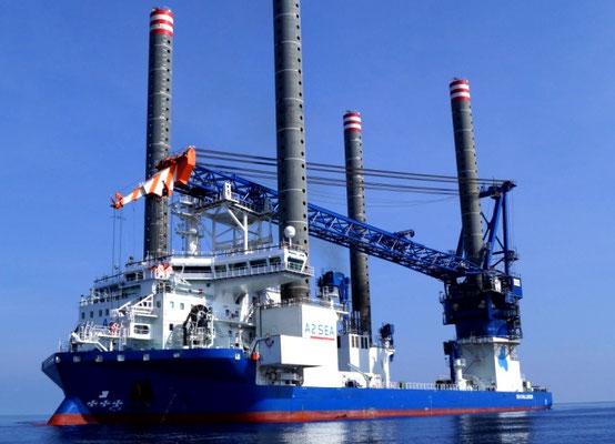 """Abbildung 5: Errichterschiff """"Sea Challenger""""  (Quelle A2Sea)"""