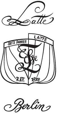 Zirkel und Schriftzug der Berliner Latte (Quelle Latte)