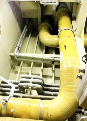 Abbildung 5: Neue Seewasserleitungen führen vom Seekasten…. (Foto Dr. Hochhaus)