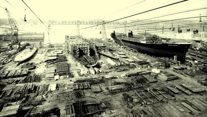 Nr. 68: Motortanker Ernst G. Russ auf der Deutschen Werft im Bau