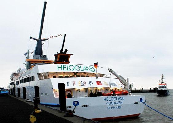 Jungfernfahrt der Helgoland, Blick auf das Hinterschiff  (Foto Dr. Hochhaus)