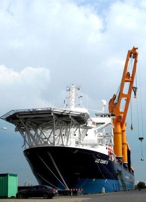 "Abbildung 7: ""OIG Giant I"" ex ""Combi Dock II"" in Bremerhaven (Foto Dr. Hochhaus)"