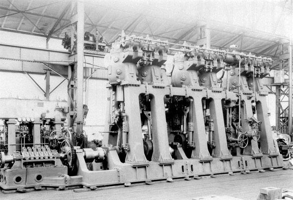 Einer der zwei Dieselmotoren der Rolandseck, beide wurden auf der Tecklenborgwerft Bremerhaven gebaut (Quelle DSM)