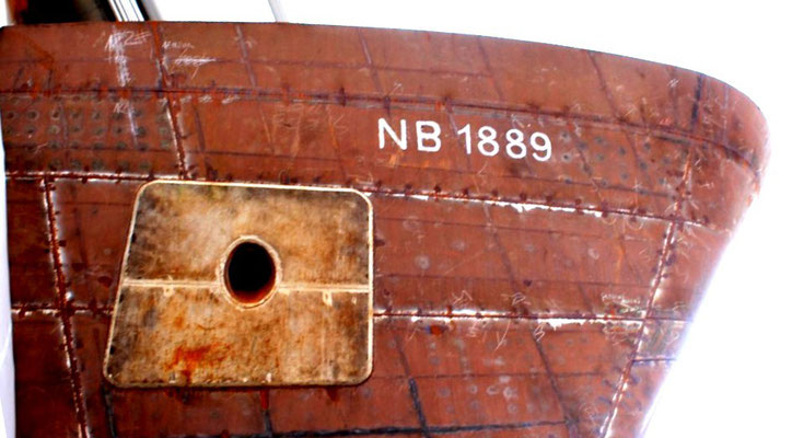 Abb. 3: Die Helgoland ist Bau-Nummer 1889 (Foto Dr. Hochhaus)