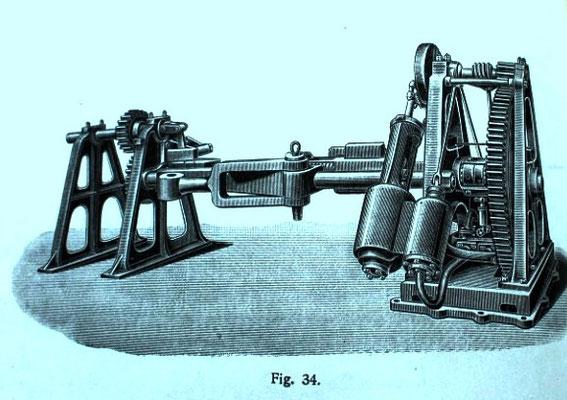 Abbildung 6: Rudermaschine mit Dampfantrieb [1]