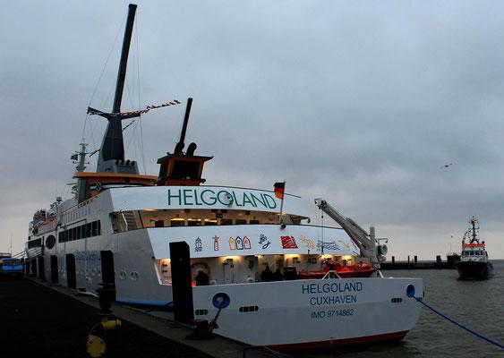 Helgoland in Cuxhaven, Heckansicht