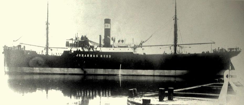 Johannes Russ,  1904 von der AG Neptun als Nr. 6 der Reedereiliste (Quelle Ernst Russ 100 Jahre)