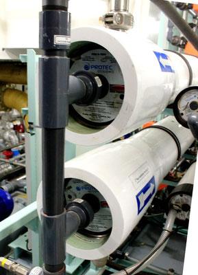 Abb. 15: : Die Wickelmembranen dienen der Entsalzung des  Meerwassers  (Foto Dr. Hochhaus).