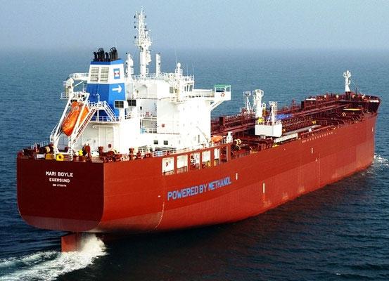 """Abbildung 6: Tanker """"Mari Boyle"""", ein Schwesterschiff  der """"Lindager"""" (Quelle Marinvest)"""