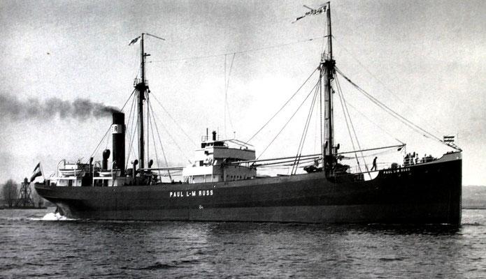 Nr. 27: Paul L. M. Russ, 1923 von den Stettiner Oderwerken als Bau Nr. 705 abgeliefert, 1984 abgebrochen.