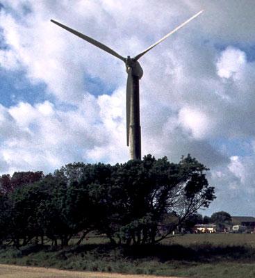 Abbildung 2: 1975 errichtete Tvind-Mühle bei Ulfborg (Quelle Wikipedia Jens Bludau)