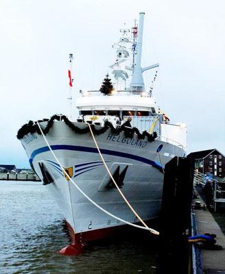 Jungfernfahrt der Helgoland, Blick auf das Vorschiff  (Foto Dr. Hochhaus)