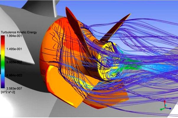 Abbildung 7: Simulation der Flossenkappenwirkung (Quelle MMG)