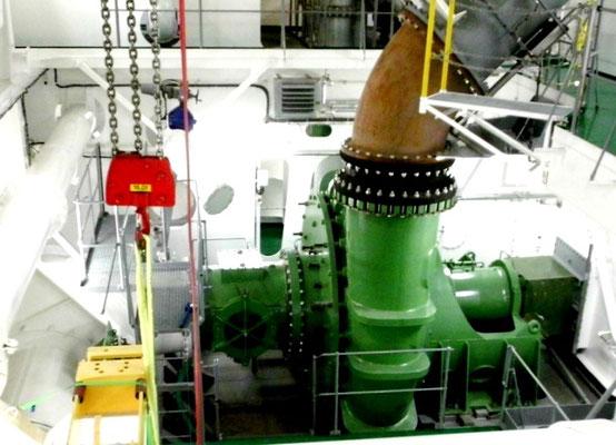 Abbildung 10: Das Herz des Saugbaggers ist die Baggerpumpe (Foto Dr. Hochhaus)
