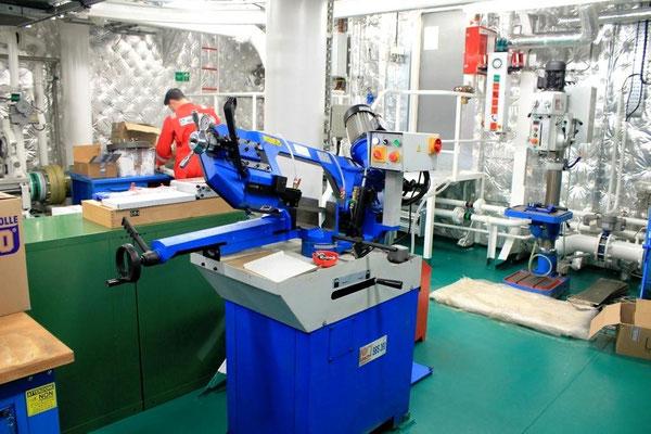 Abbildung 7: Die Werkstatt und der Separatorenraum erhalten eine Be- und Entlüftung (Foto Dr. Hochhaus)