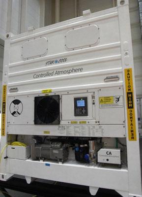 Abbildung 7: Starcool-Kühlcontainer von Maersk, Blick auf die Aggregateseite (Foto Dr. Hochhaus)