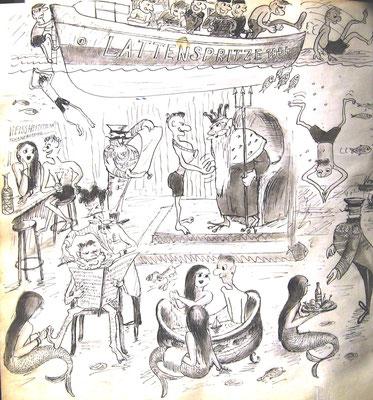 Zeichnerische Darstellung der Taufe (Quelle Latte)