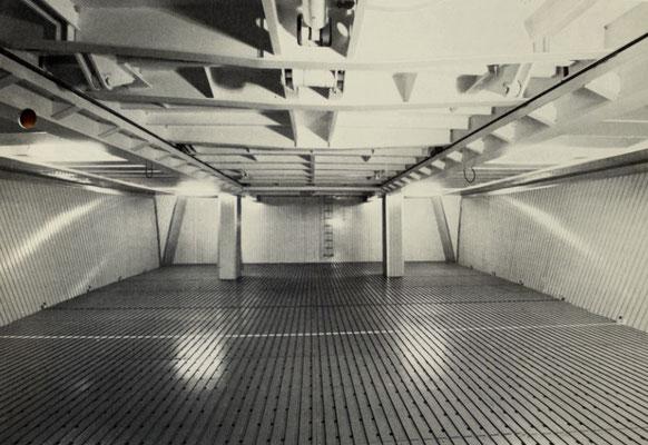 Blick in den Kühlladeraum dieser Kühlschiffe