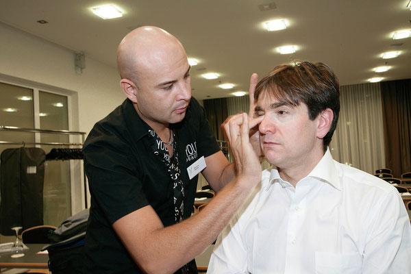 TV-Make-Up Gilles Tschudi von Mauri Beauty in Mehlsecken, Reiden. Nähe Dagmersellen, Wikon, Brittnau, Strengelbach, Zofingen, Oftringen, Rothrist