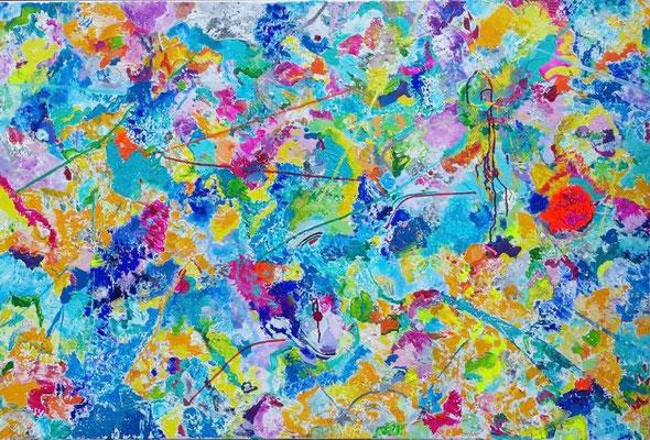 Impulsion, 150 x100, Acryl auf Leinwand, verkauft