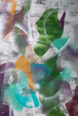 ohne Titel ,Acryl,  60 x 90, 2020