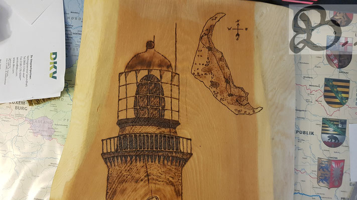 Detail Leuchtturm oben