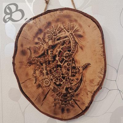 """Holzwerk Peter Stoiber - Brandmalerei - """"Heart of the tree"""""""