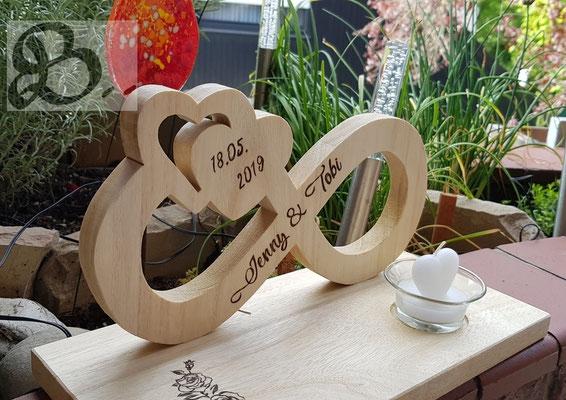 Holzwerk Peter Stoiber - Brandmalerei - Handgemachtes Hochzeitgeschenk mit Brandbild