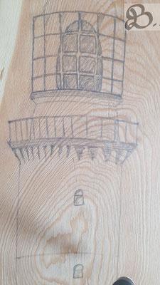 Erste Schattierungen des Leuchtturmes