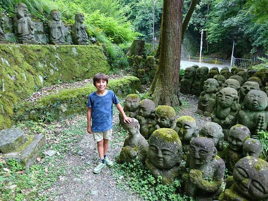 Otagi Nenbutsu-ji Temple,  over 1200 rakan stone statues