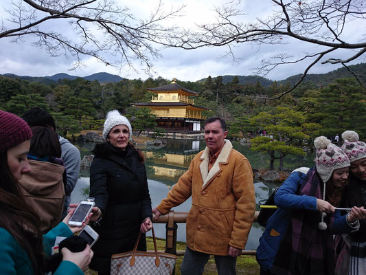Kinkaku-ji Temple, Golden palace. Best Couple!