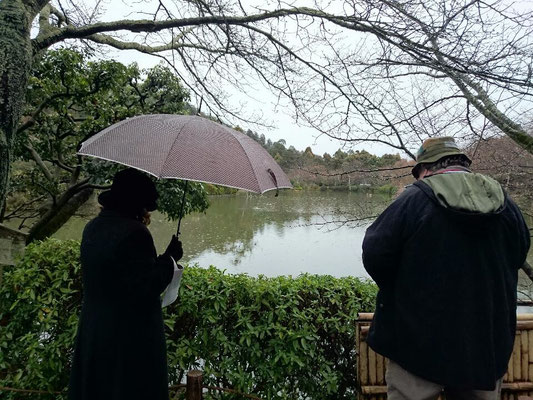 Kyoyochi pond, around which there is a strolling garden